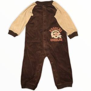 Carter's Huddler Cuddler Velour Pajamas 24M